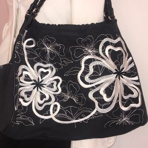 Brighton Canvas and embroidered Bag